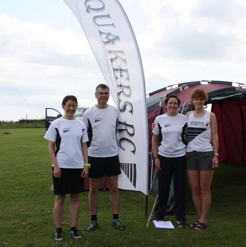 April, Mark, Nicola and Wendy - just some of the members who gave up their time to help out at the race